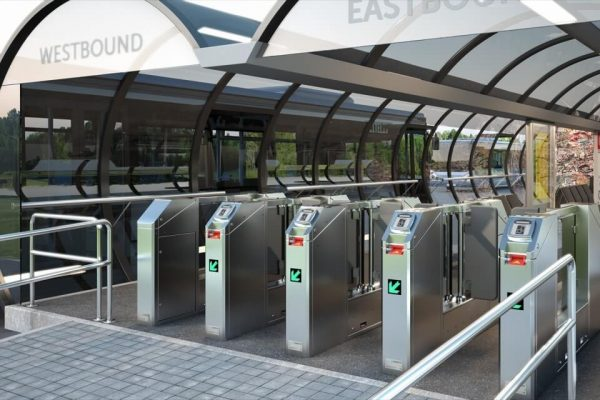 Get Magnetic Automated Fare Collection MPW swing gates in UAE, Qatar and Saudi Arabia