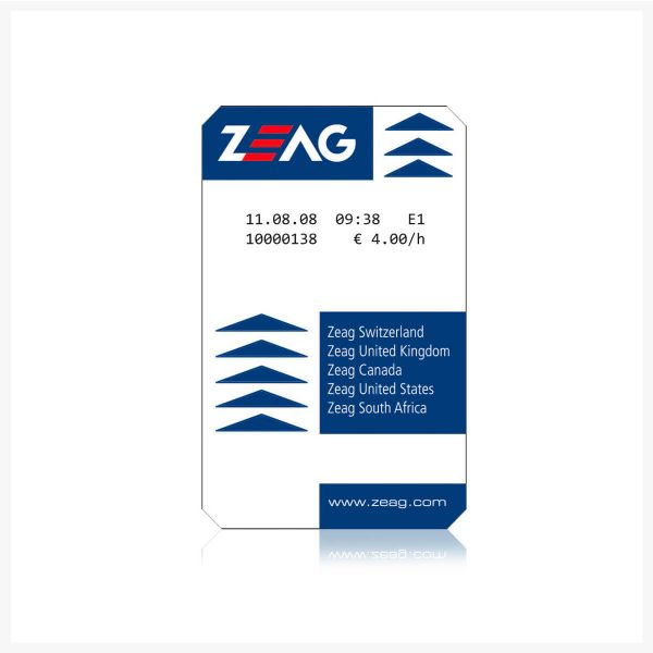 HUB Parking Technology ZEAG Validation Rebate - Rebate Ticket