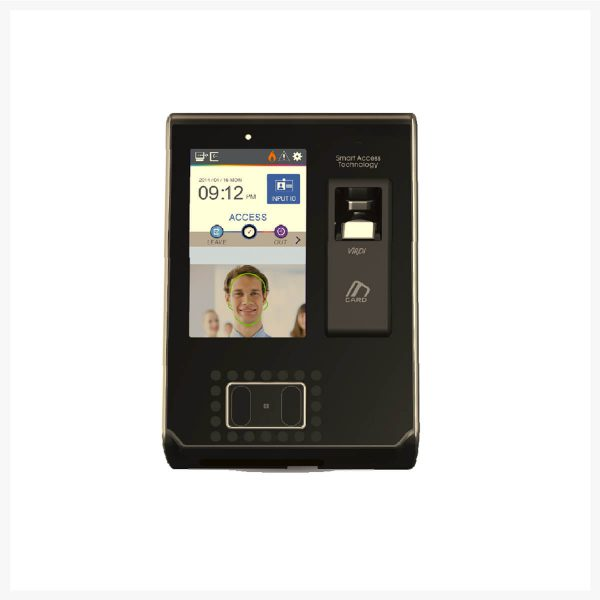 "ViRDI AC-7000 face and fingerprint recognition terminal (Tilt Camera, 5"" LCD screen, multi card reader)"